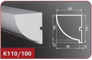 Карниз фасадный К110/100