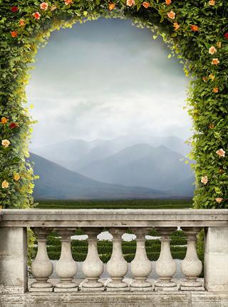 Фотообои ''Балкон с видом на горы 200х270 см''