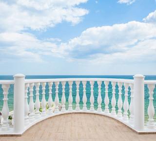 Фотообои ''Балкон с видом на океан 300х270 см''