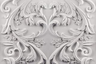 Фотообои ''Барельеф цветочный орнамент 400х270 см''