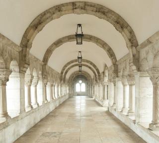 Фотообои ''Белый коридор 300х270 см''