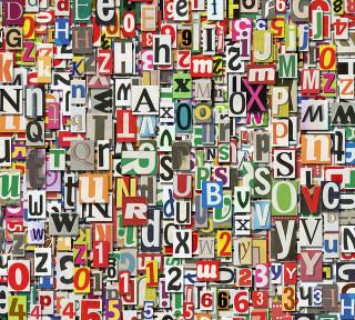 Фотообои ''Буквы и цифры фон 300х270 см''