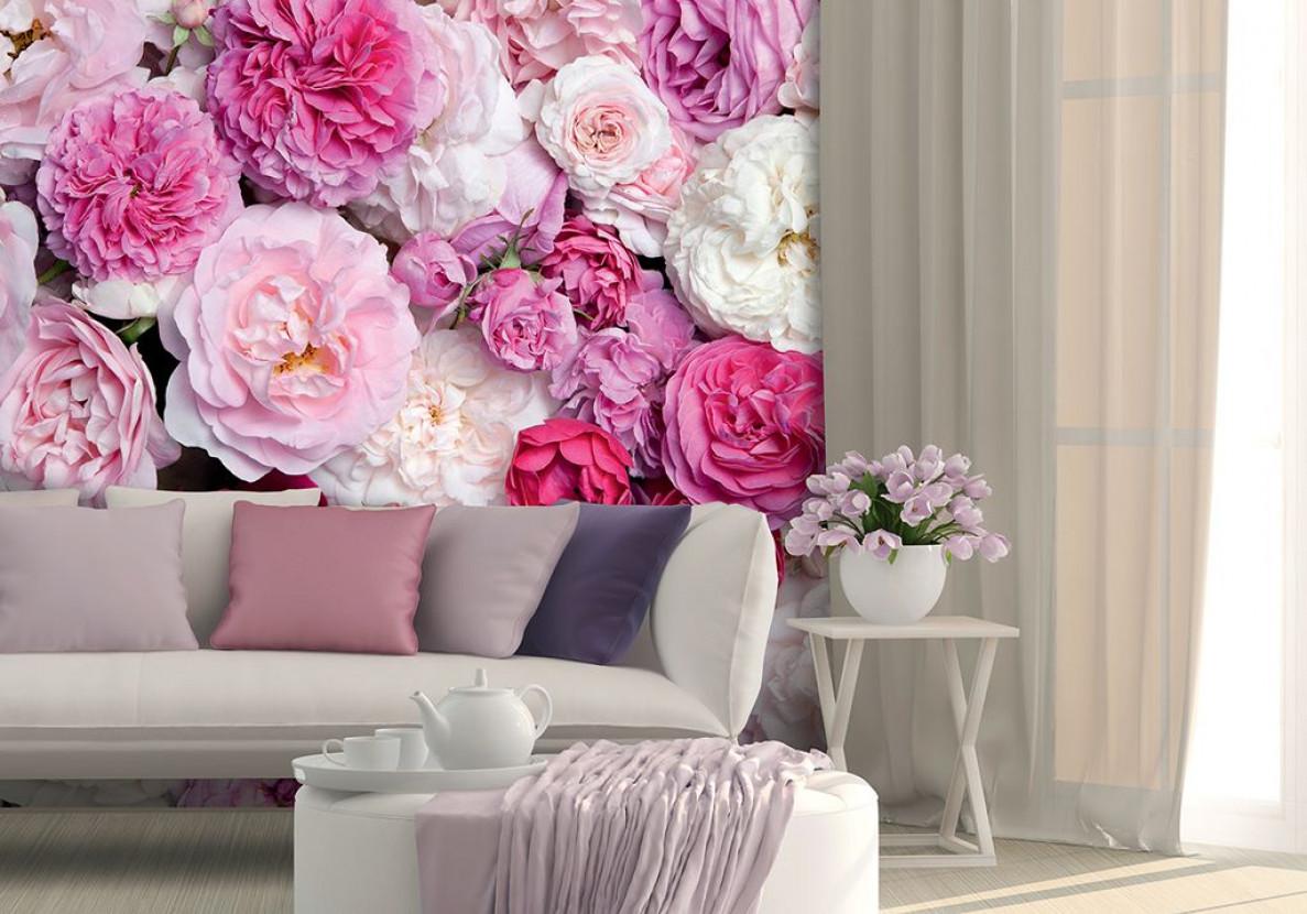 Обои с крупными цветами для стен каталог фото